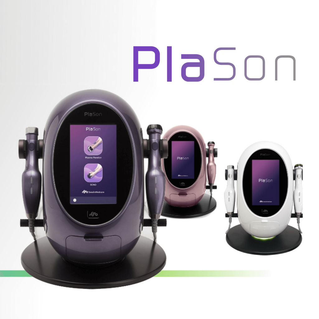 Absorb. Rejuvenate. Purify PlaSon combines the powerful effects of plasma and ultrasonic bringing multiple benefits to the skin